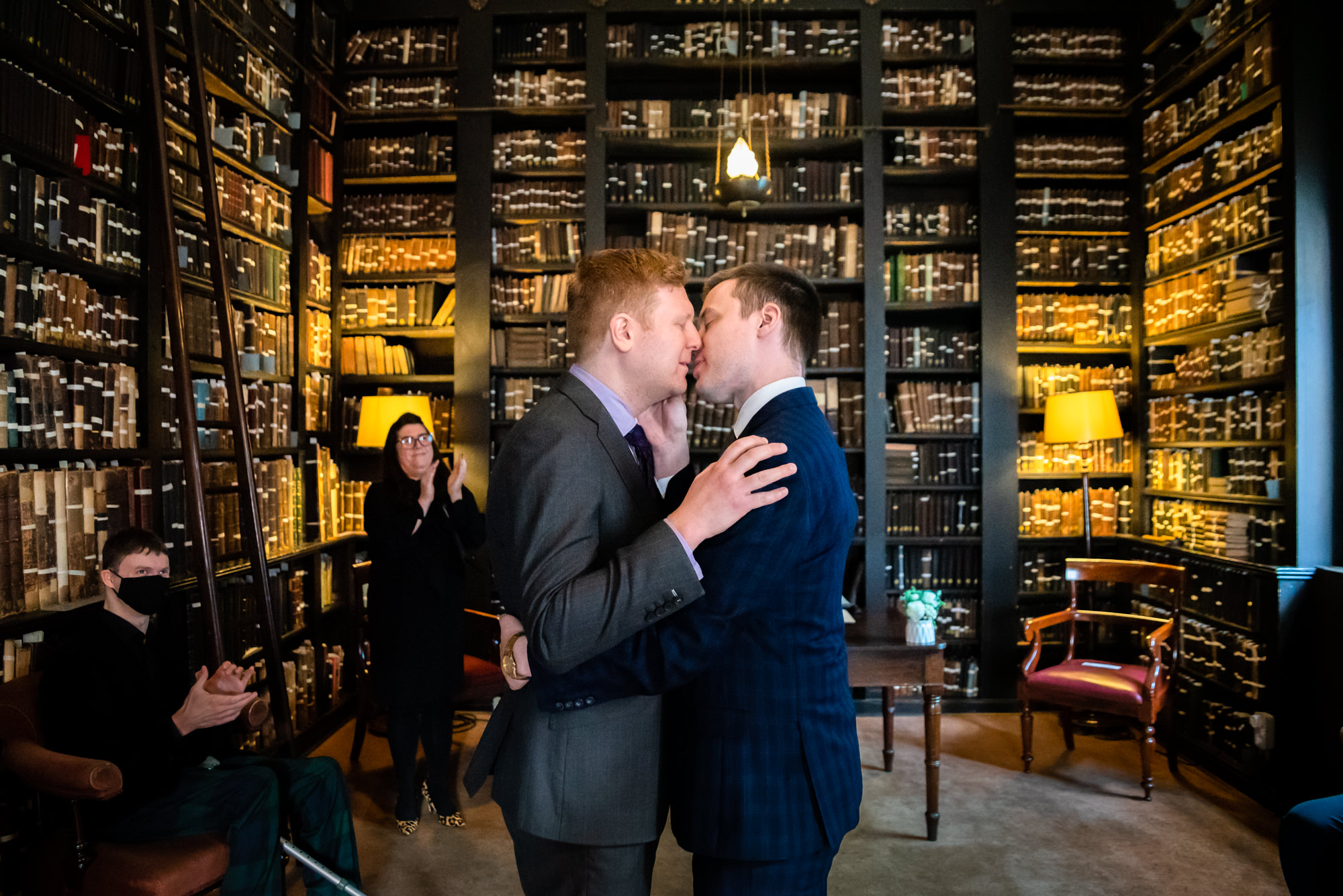 First kiss at The Portico Library
