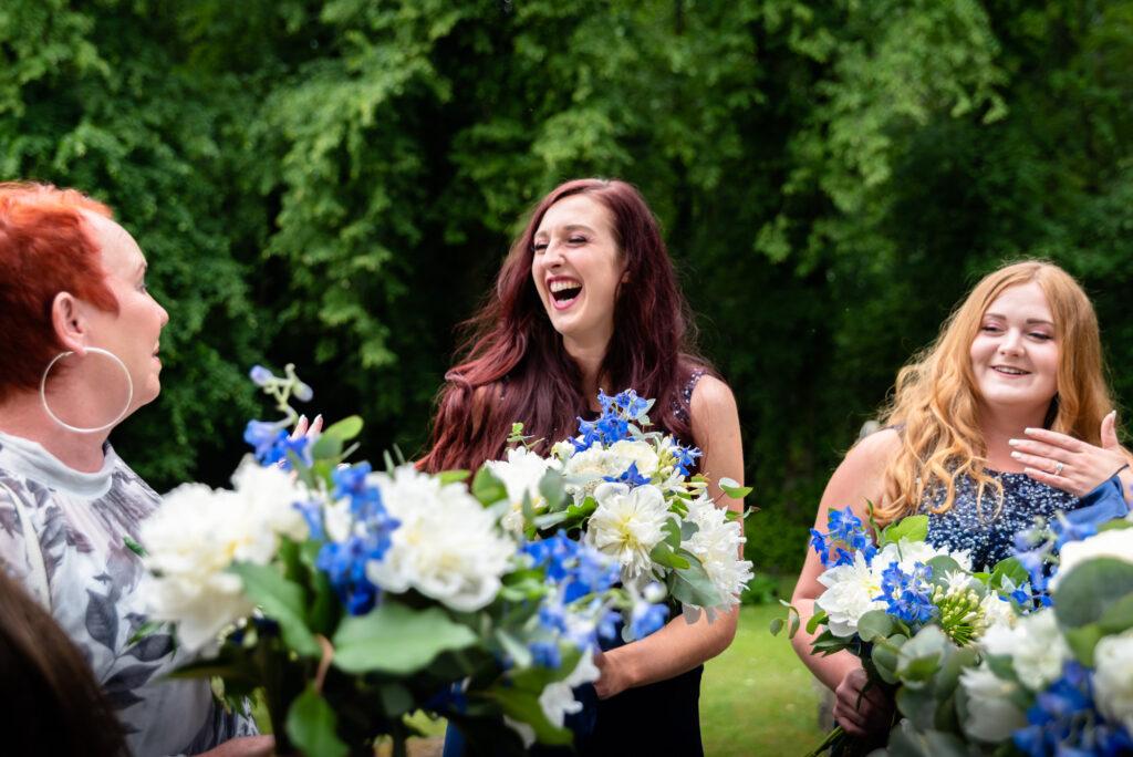 Bridesmaids at st paul's church compstall
