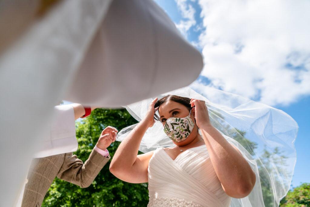 Adjusting the veil