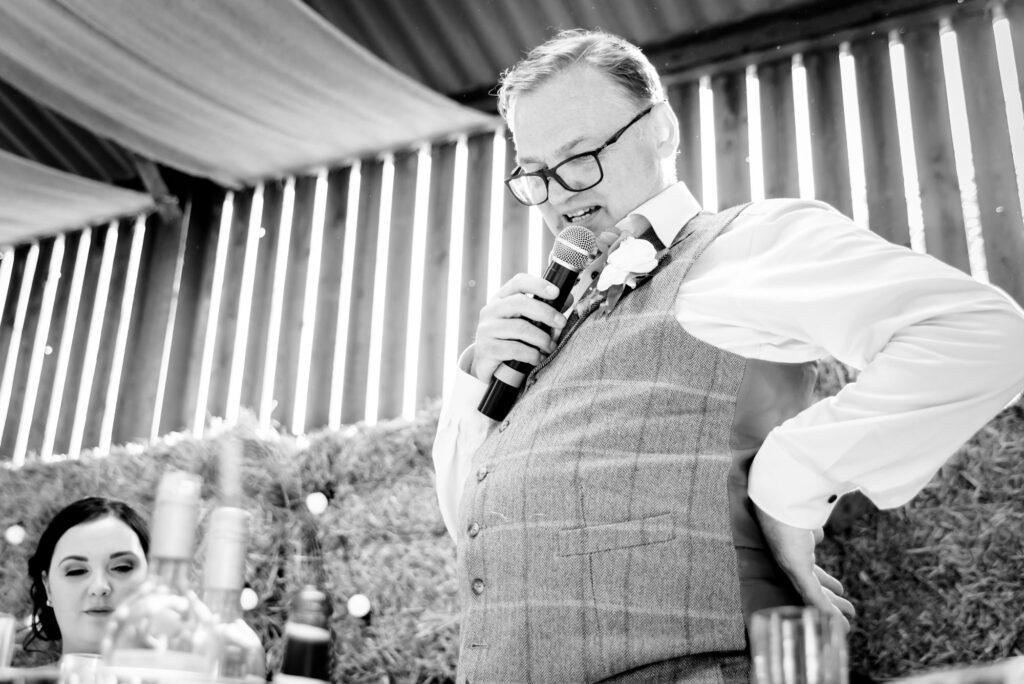 Dad speech at Thornsett Fields Farm