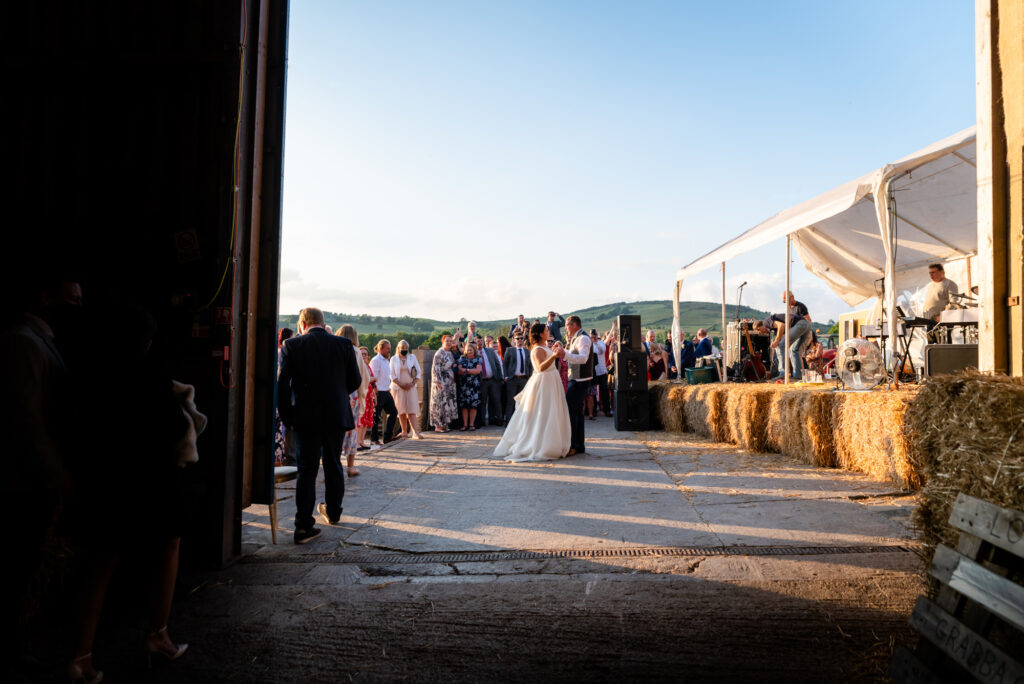 Outdoor party at Thornsett Fields Farm