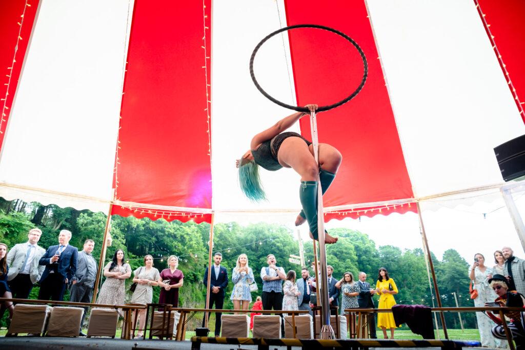 Circus act  at Gisburn Park Estate