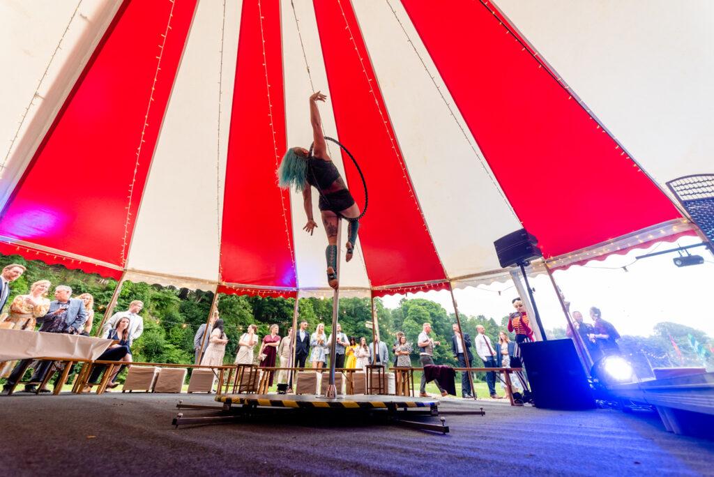 Circus wedding  at Gisburn Park Estate