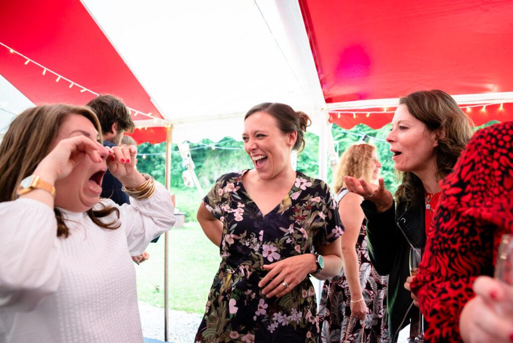 Guest having a good time  at Gisburn Park Estate