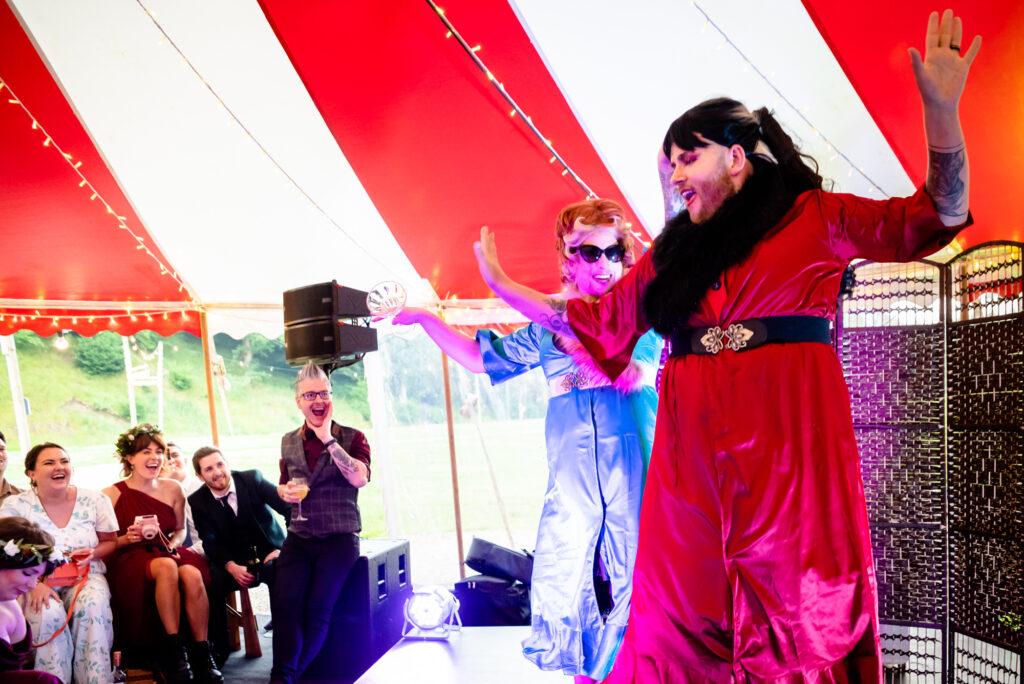 Drag show at Gisburne Park Estate