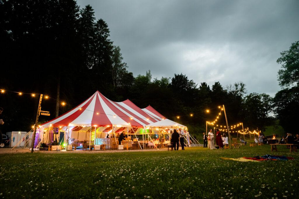Circus tent at Gisburne Park Estate