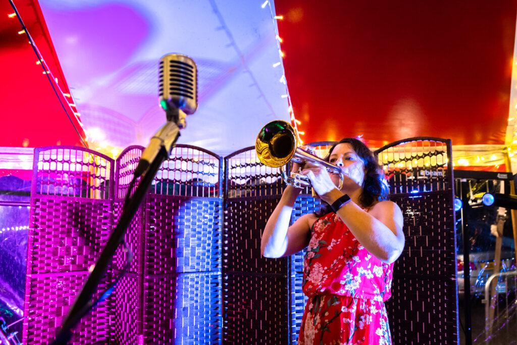 Trumpet player  at Gisburn Park Estate