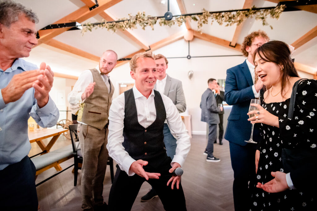 Jewish dance at Hanbury Wedding Barn