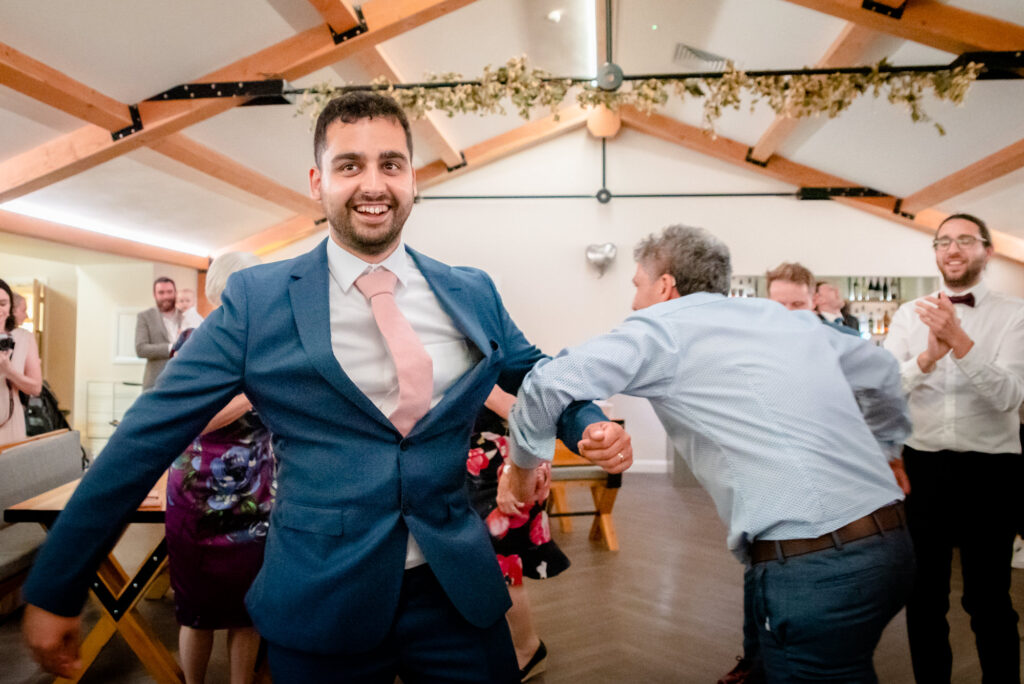 Groom spinning his dad