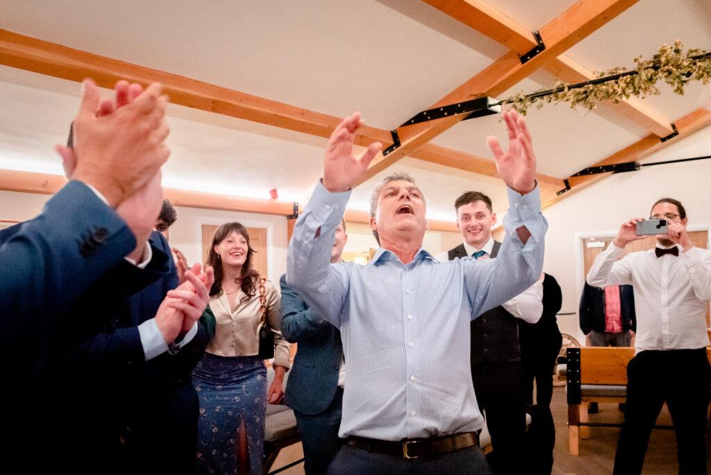 Jewish dancing at Hanbury Wedding Barn