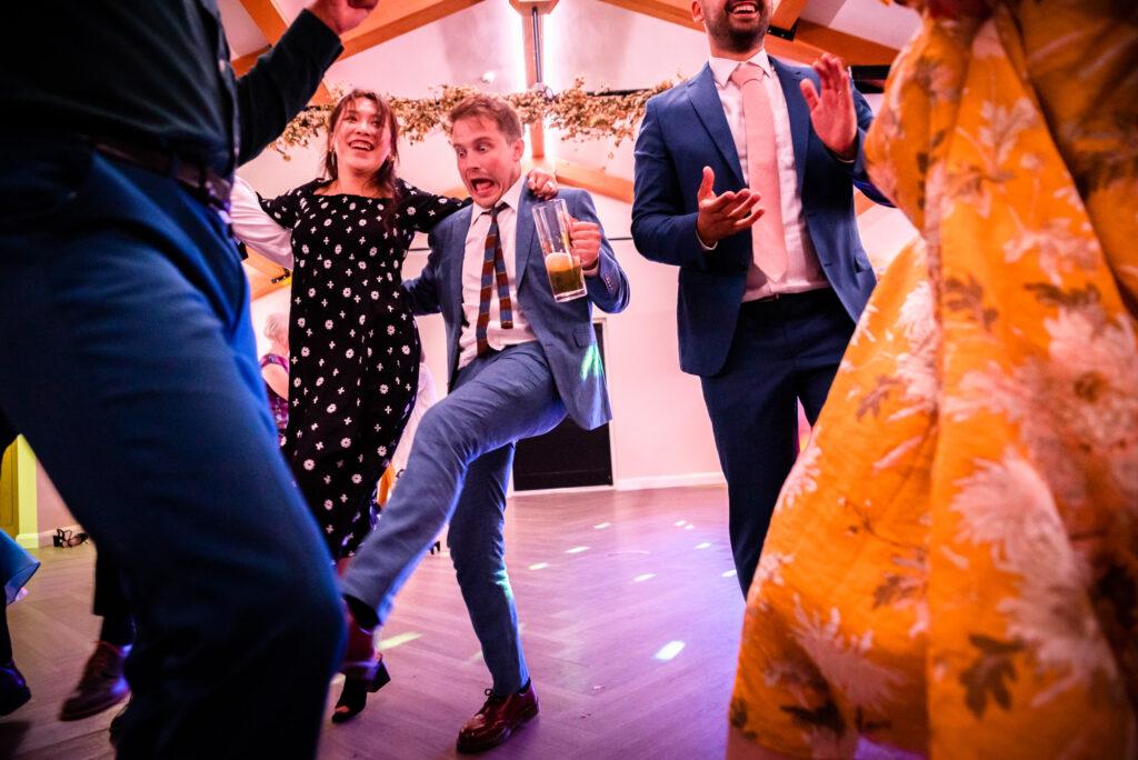 Irish dancing at Hanbury Wedding Barn