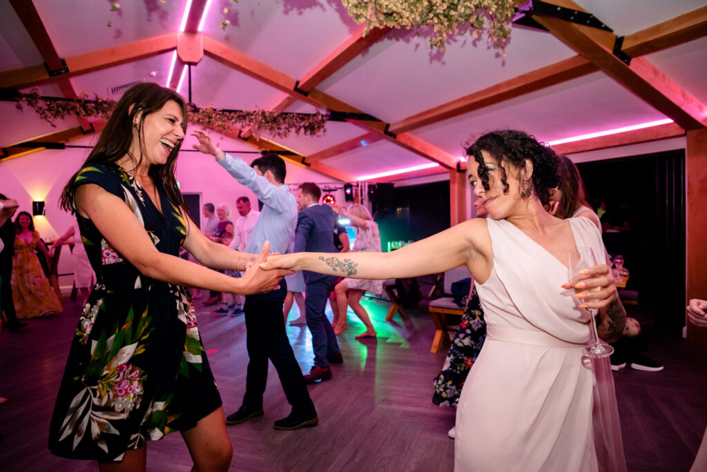 Bridesmaid having fun on the dancefloor