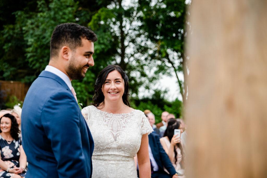 Natural wedding photography at Hanbury Wedding Barn