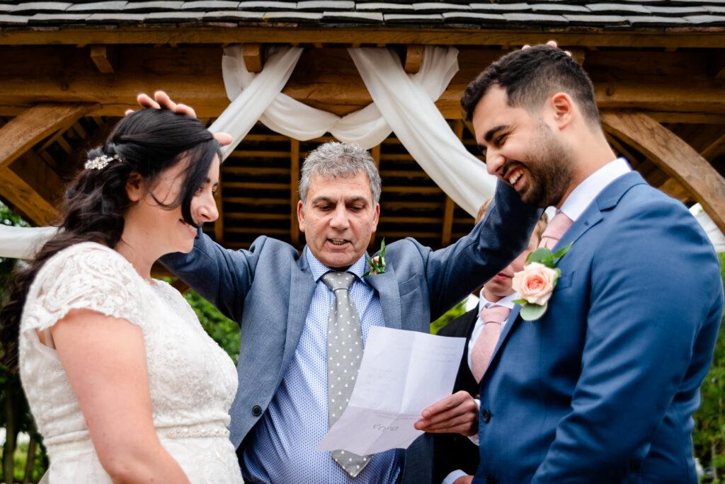 Jewish blessing at Hanbury Wedding Barn