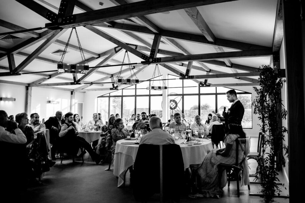 Speeches at Hanbury Wedding Barn