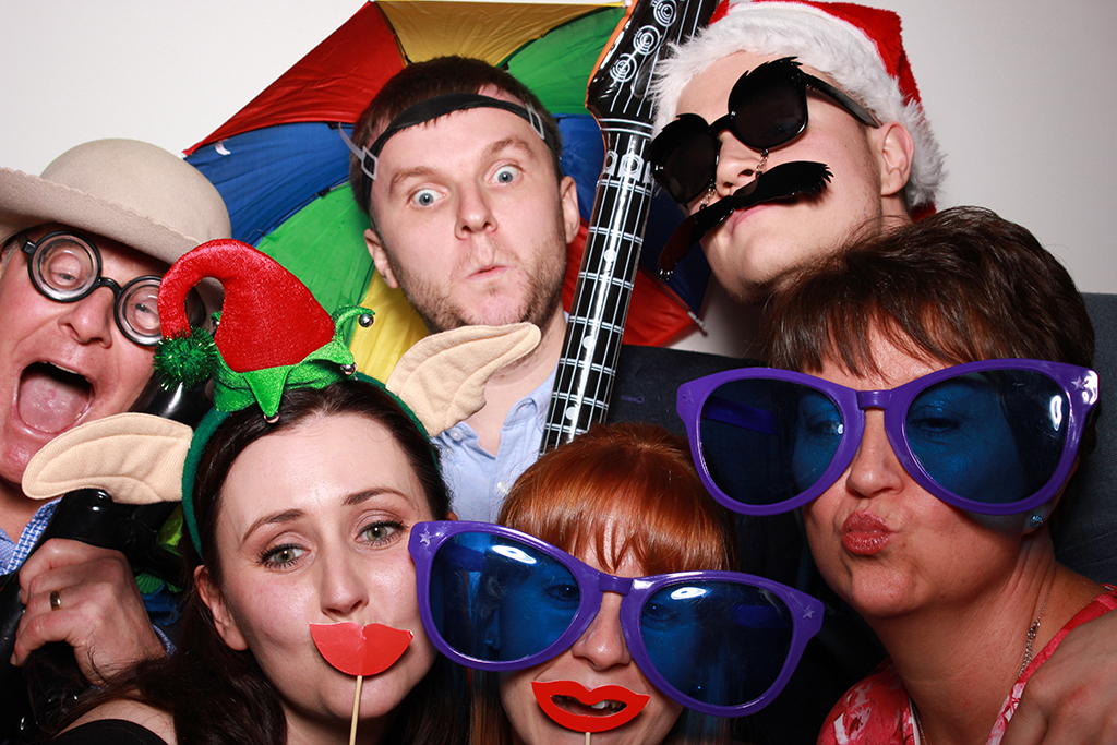 Guests using Monsieur Click photobooth