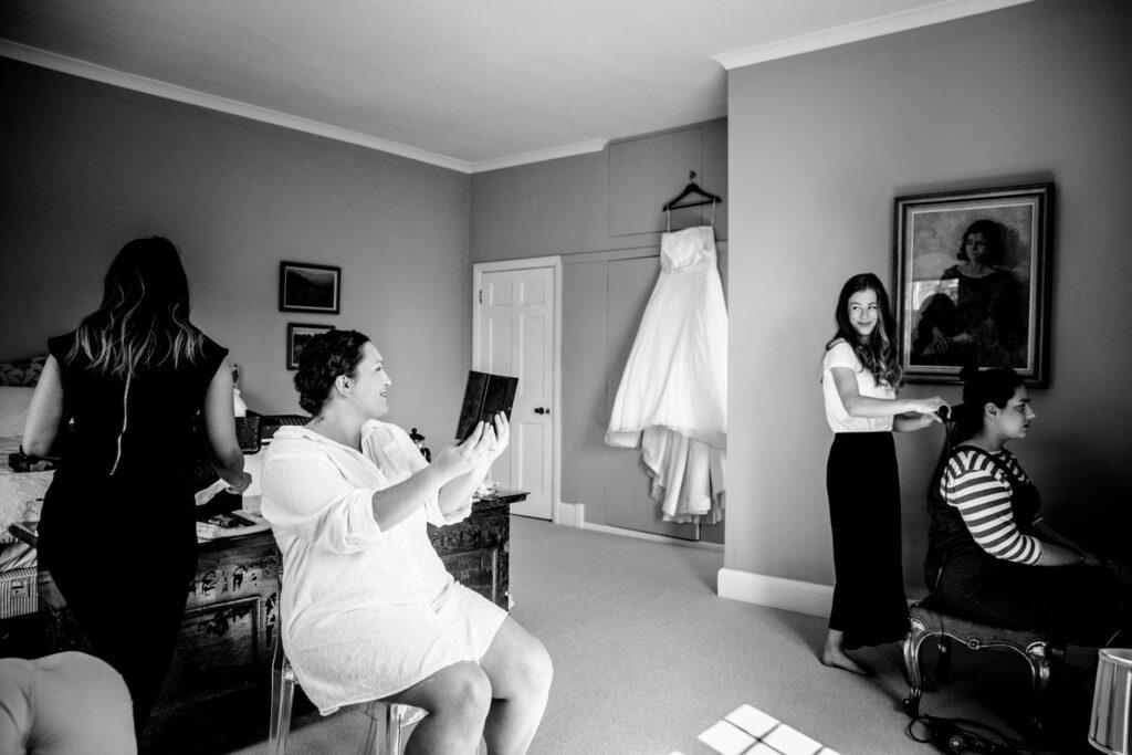 bridal preparation at Talton Lodge