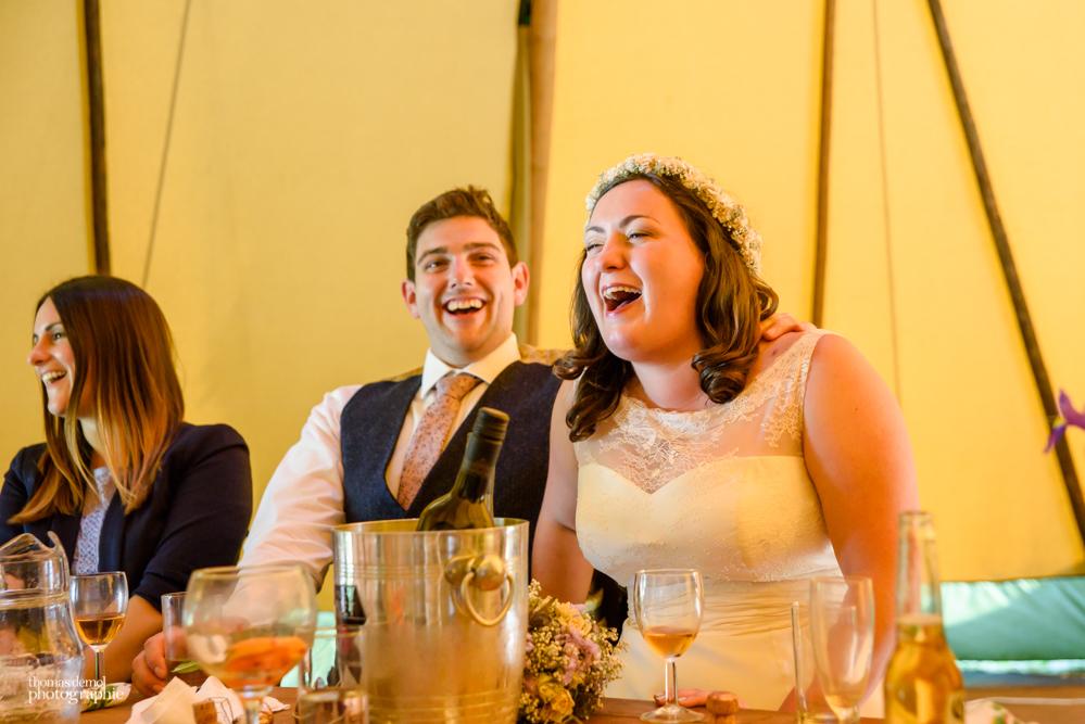 Tipi wedding at Talton Lodge