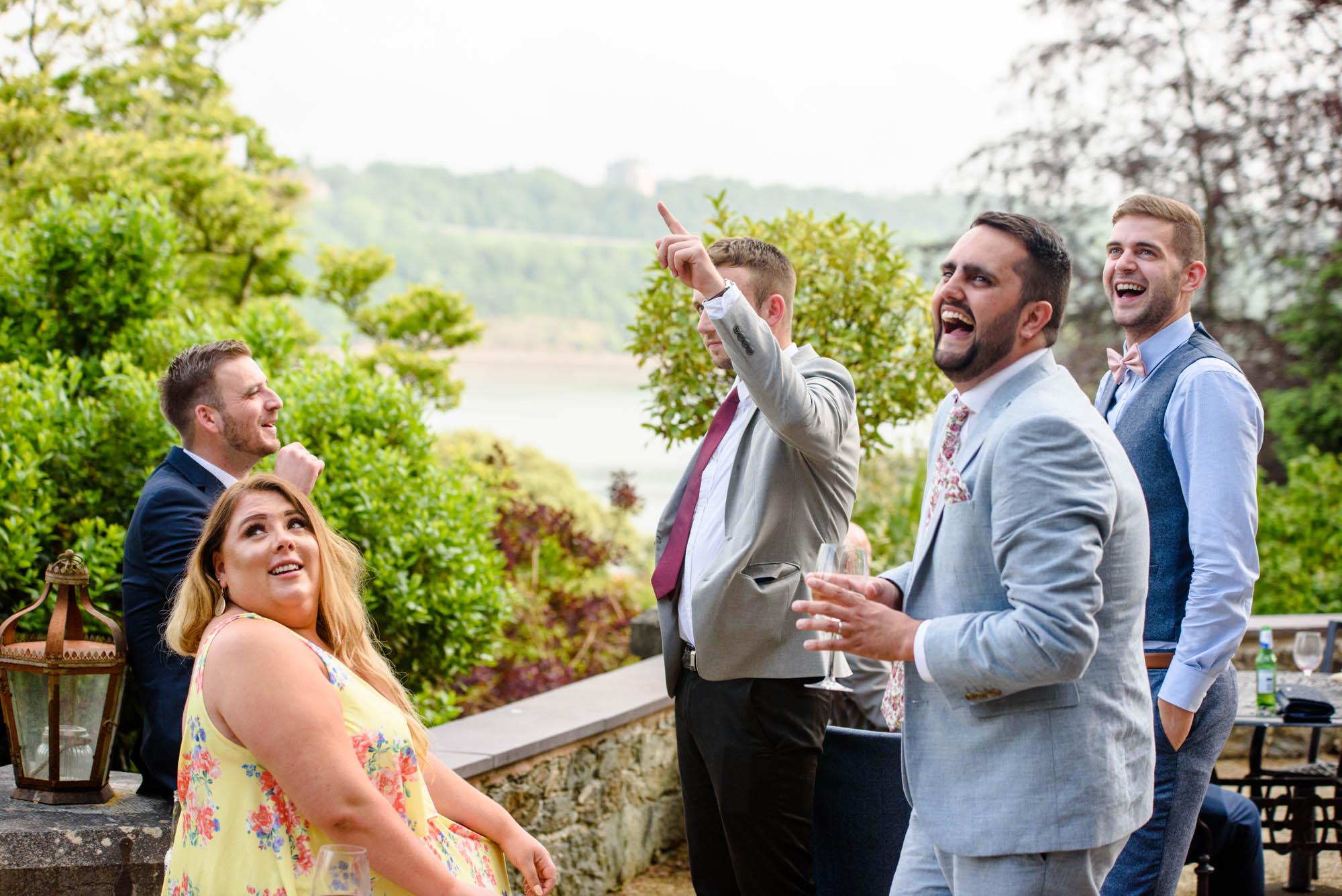 Guests teasing at Chateau Rhianfa