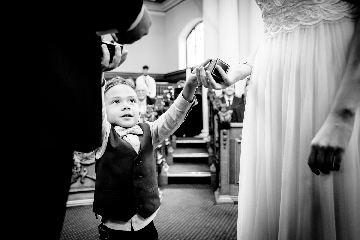 Ring bearer in Council Chamber Stockport