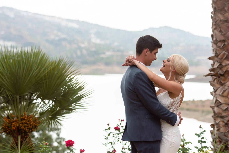 Wedding portrait near La Vinuela reservoir