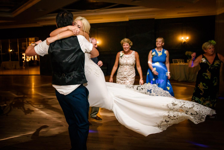bride flying on the dancefloor