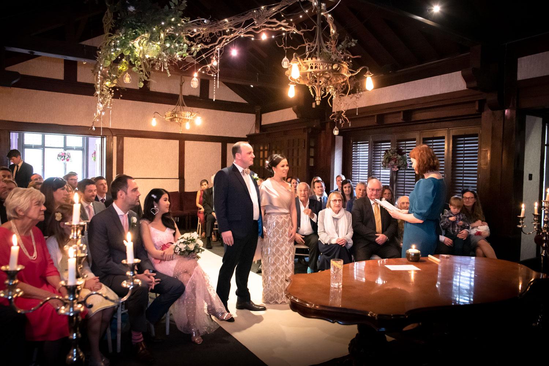 wedding ceremony at the Belle Epoque