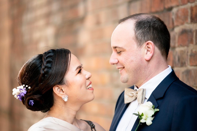 brida and groom portrait