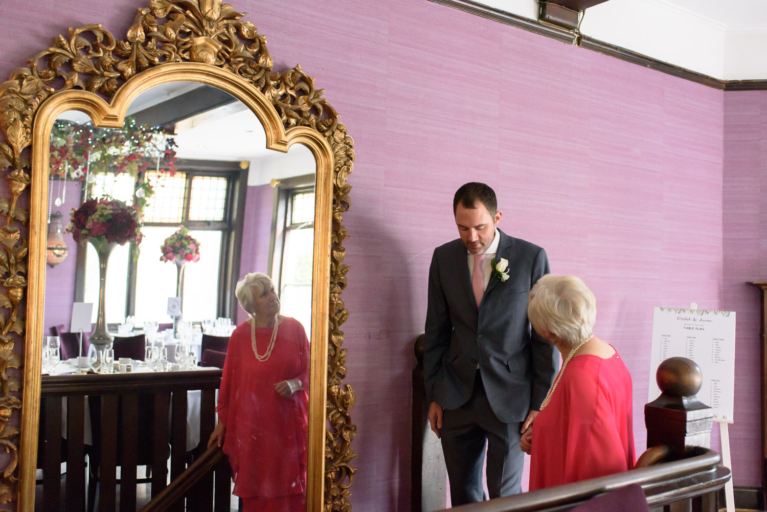 greeting the guests