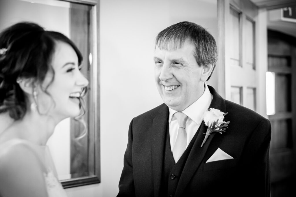 Dad see the bride for the first time