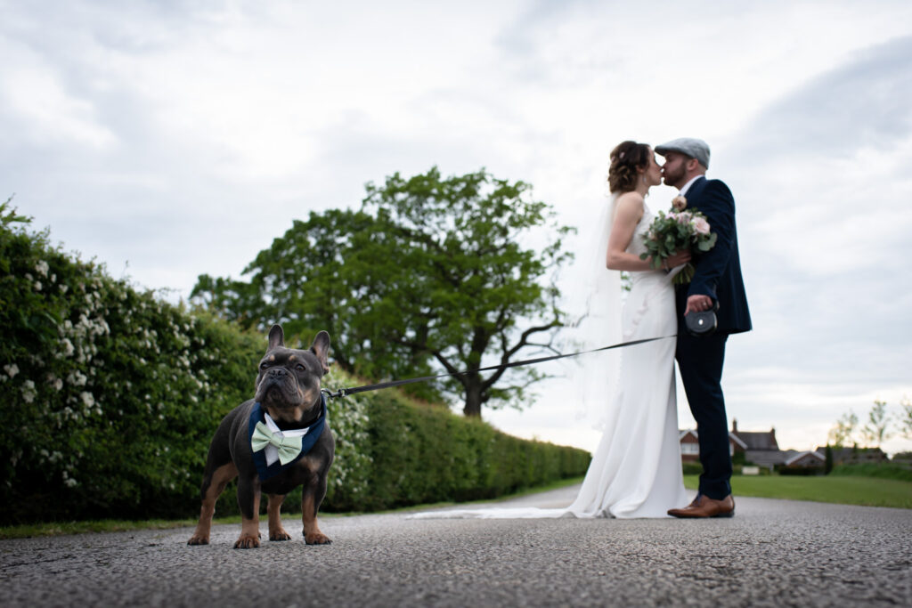 Kissing whilst the dog wait